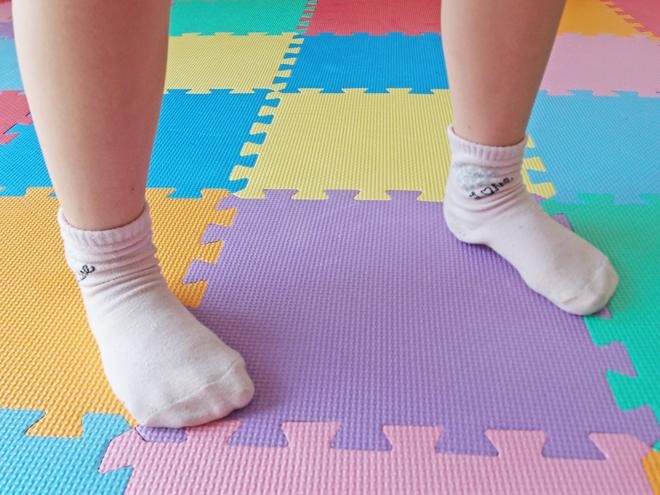 3歩目の足は横に