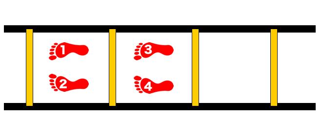 ラダーの練習方法 バックステップ
